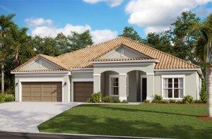 Henley ENCL - Traditional Elevation - 3,000 - 3,939 sqft, 4-5 Bedroom, 3-4 Bathroom - Cardel Homes Tampa