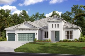 Savannah ENCL - Mediterranean Elevation - 3,308 sqft, 4 Bedroom, 3 Bathroom - Cardel Homes Tampa
