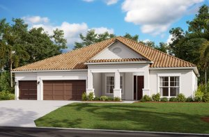 Savannah ENCL - Traditional Elevation - 3,308 sqft, 4 Bedroom, 3 Bathroom - Cardel Homes Tampa