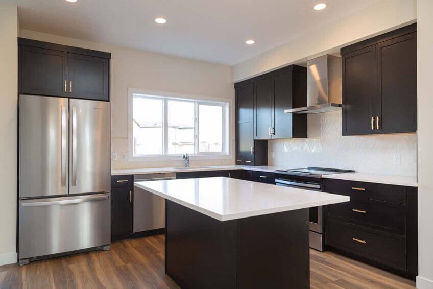 New Calgary Single Family Home Quick Possession Indigo 1 in Savanna, located at 9032 52 Street NE Built By Cardel Homes