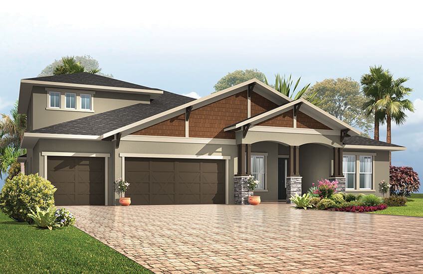 New Tampa Single Family Home Quick Possession Henley in Oakwood Reserve, located at 2420 CLEMENT ROAD, LUTZ, FL 33549 (LOT 1) Built By Cardel Homes Tampa