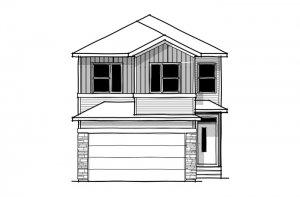 SAV-MG-ROHAN-1-A1 Elevation - 2,202 sqft, 4 Bedroom, 2.5 Bathroom - Cardel Homes Calgary