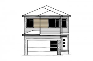 SAV-MG-ROHAN-1-A2 Elevation - 2,202 sqft, 4 Bedroom, 2.5 Bathroom - Cardel Homes Calgary