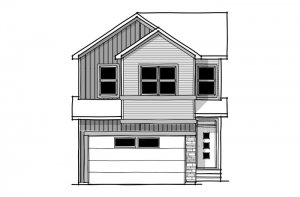 SAV-MG-ROHAN-1-A3 Elevation - 2,202 sqft, 4 Bedroom, 2.5 Bathroom - Cardel Homes Calgary