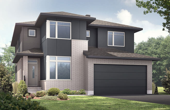 New Ottawa Single Family Home Quick Possession Nichols in Creekside, located at 764 Kirkham Cres, Richmond Built By Cardel Homes Ottawa
