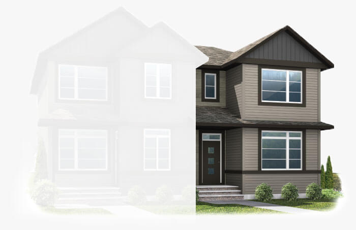 New Calgary Paired Home Quick Possession Cobalt 1 in Savanna, located at 9068 52 STREET NE Built By Cardel Homes Calgary