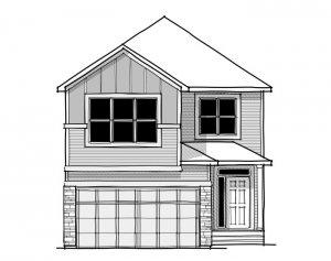 Aster 1 - CB-Farmhouse C3 Elevation - 2,609 sqft, 4 Bedroom, 2.5 Bathroom - Cardel Homes Calgary