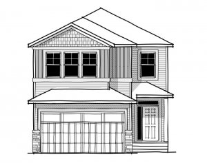 Aster 1 - Craftsman C1 Elevation - 2,609 sqft, 4 Bedroom, 2.5 Bathroom - Cardel Homes Calgary