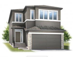 Aster 1 - Prairie C2 Elevation - 2,609 sqft, 4 Bedroom, 2.5 Bathroom - Cardel Homes Calgary