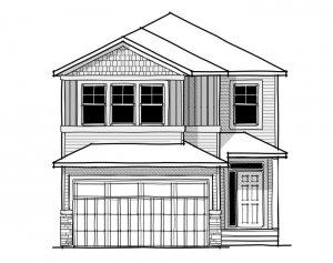 Aster 1 - Farmhouse C3 Elevation - 2,609 sqft, 4 Bedroom, 2.5 Bathroom - Cardel Homes Calgary