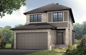 Baxter - Traditional A2 Elevation - 1,703 sqft, 3 - 4 Bedroom, 2.5 Bathroom - Cardel Homes Ottawa