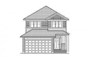 Baxter - A1 Canadiana Elevation - 1,702 sqft, 3 Bedroom, 2.5 Bathroom - Cardel Homes Ottawa