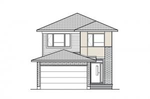 Baxter - A3 Modern Elevation - 1,702 sqft, 3 Bedroom, 2.5 Bathroom - Cardel Homes Ottawa