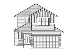 Billings EW - Canadiana A1 Elevation - 1,755 sqft, 3 Bedroom, 2.5 Bathroom - Cardel Homes Ottawa