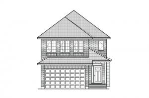 Cordero - Traditional A2 Elevation - 2,640 sqft, 4 Bedroom, 2.5 Bathroom - Cardel Homes Ottawa