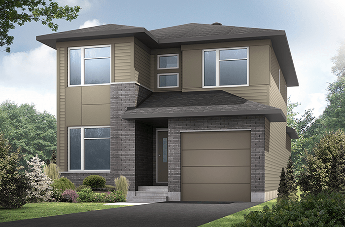 Langston - Modern A3 Elevation - 1,836 sqft, 3 Bedroom, 2.5 Bathroom - Cardel Homes Ottawa