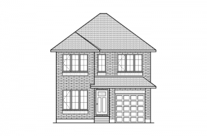 Langston - Traditional A2 Elevation - 1,836 sqft, 3 Bedroom, 2.5 Bathroom - Cardel Homes Ottawa