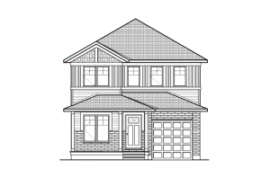 Langston - Canadiana A1 Elevation - 1,836 sqft, 3 Bedroom, 2.5 Bathroom - Cardel Homes Ottawa