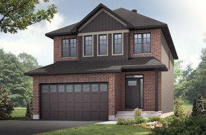 Lowell - Traditional A2 Elevation - 2,132 sqft, 3 Bedroom, 2.5 Bathroom - Cardel Homes Ottawa