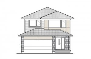 Lowell - Modern A3 Elevation - 2,132 sqft, 3 Bedroom, 2.5 Bathroom - Cardel Homes Ottawa