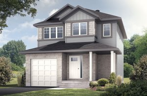 Madigan - Canadiana A1 Elevation - 1,957 sqft, 3 Bedroom, 2.5 Bathroom - Cardel Homes Ottawa