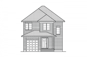Madigan - Traditional A2 Elevation - 1,957 sqft, 3 Bedroom, 2.5 Bathroom - Cardel Homes Ottawa