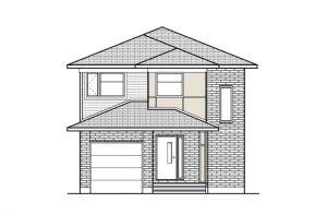 Madigan - Modern A3 Elevation - 1,957 sqft, 3 Bedroom, 2.5 Bathroom - Cardel Homes Ottawa