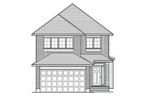 Paloma - Traditional A2 Elevation - 2,233 sqft, 3 - 5 Bedroom, 2.5 - 4 Bathroom - Cardel Homes Ottawa
