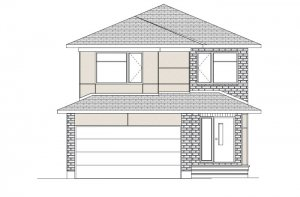 Sutton - Modern A3 Elevation - 2,366 sqft, 4 Bedroom, 2.5 Bathroom - Cardel Homes Ottawa