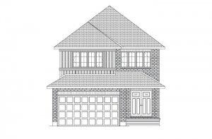 Sutton - Traditional A2 Elevation - 2,366 sqft, 4 Bedroom, 2.5 Bathroom - Cardel Homes Ottawa