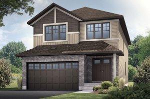Sutton - Canadiana A1 Elevation - 2,366 sqft, 4 Bedroom, 2.5 Bathroom - Cardel Homes Ottawa