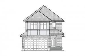 Minetta - Traditional A2 Elevation - 1,852 sqft, 3 Bedroom, 2.5 Bathroom - Cardel Homes Ottawa