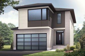 Minetta - Modern A3 Elevation - 1,852 sqft, 3 Bedroom, 2.5 Bathroom - Cardel Homes Ottawa
