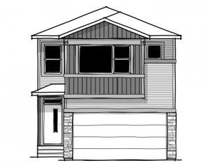 Artisan 1 - Urban Craftsman A1 Elevation - 2,364 sqft, 4 Bedroom, 2.5 Bathroom - Cardel Homes Calgary