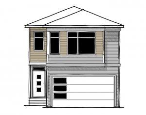 Artisan 1 - Urban Prairie A2 Elevation - 2,364 sqft, 4 Bedroom, 2.5 Bathroom - Cardel Homes Calgary