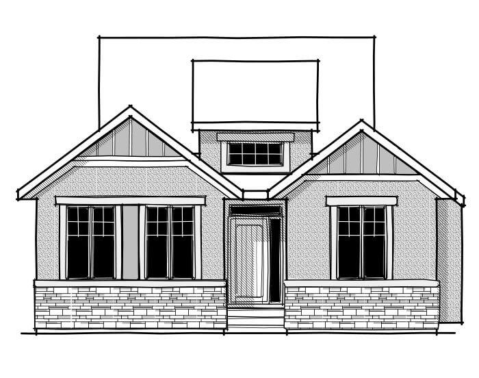 CAMBRIA COURT - Rustic S2 Elevation - 1,609 sqft, 2 Bedroom, 2 Bathroom - Cardel Homes Calgary