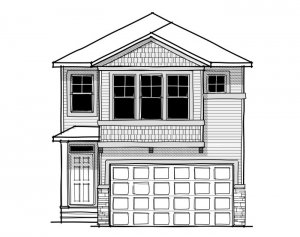 Artisan 1 - Craftsman C1 Elevation - 2,364 sqft, 4 Bedroom, 2.5 Bathroom - Cardel Homes Calgary