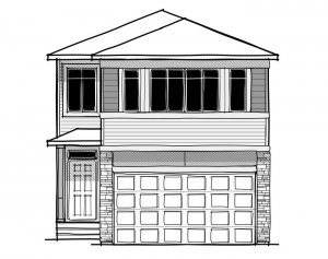 Artisan 1 - Prairie C2 Elevation - 2,364 sqft, 4 Bedroom, 2.5 Bathroom - Cardel Homes Calgary