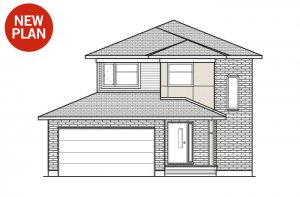Tala - A3 Modern Elevation - 1,556 sqft, 3 Bedroom, 2.5 Bathroom - Cardel Homes Ottawa