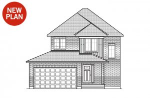 Tala - Traditional A2 Elevation - 1,556 sqft, 3 Bedroom, 2.5 Bathroom - Cardel Homes Ottawa
