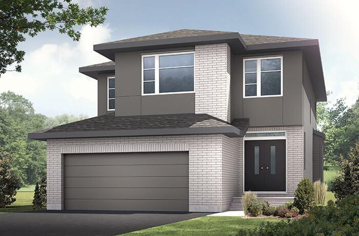 Montage - Modern Urban A2 Elevation - 2,212 sqft, 3 Bedroom, 2.5 Bathroom - Cardel Homes Ottawa