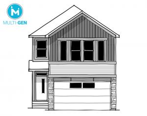 Artisan 1 - Urban Farmhouse A3 Elevation - 2,364 sqft, 4 Bedroom, 2.5 Bathroom - Cardel Homes Calgary