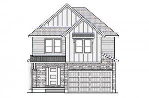 Devonshire 2 MCR-CRK - Farmhouse B2 Elevation - 2,227 sqft, 4 Bedroom, 2.5 Bathroom - Cardel Homes Ottawa