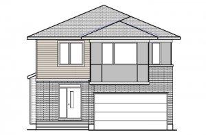 Devonshire 2 MCR-CRK - Modern B3 Elevation - 2,227 sqft, 4 Bedroom, 2.5 Bathroom - Cardel Homes Ottawa