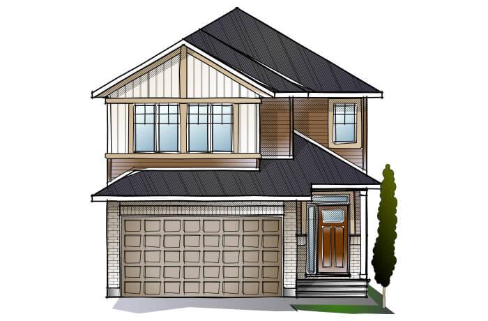 CORDERO - PS - Canadiana A1 Elevation - 2,640 sqft, 4 - 5 Bedroom, 2.5 - 4 Bathroom - Cardel Homes Ottawa