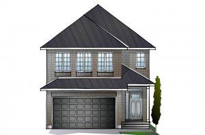 CORDERO - PS - Traditional A2 Elevation - 2,640 sqft, 4 - 5 Bedroom, 2.5 - 4 Bathroom - Cardel Homes Ottawa