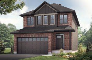LOWELL - PS - Traditional A2 Elevation - 2,132 sqft, 3 - 4 Bedroom, 2.5 Bathroom - Cardel Homes Ottawa