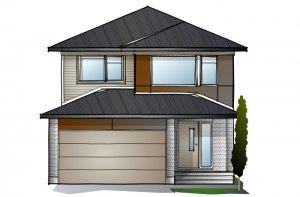 LOWELL - PS - Modern A3 Elevation - 2,132 sqft, 3 - 4 Bedroom, 2.5 Bathroom - Cardel Homes Ottawa