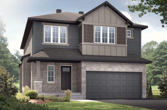 DEVONSHIRE2-PS - Canadiana B1 Elevation - 2,227 sqft, 4 Bedroom, 2.5 Bathroom - Cardel Homes Ottawa