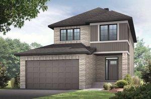 ASHMONT-PS - Traditional A2 Elevation - 1,716 sqft, 3 - 4 Bedroom, 2.5 Bathroom - Cardel Homes Ottawa